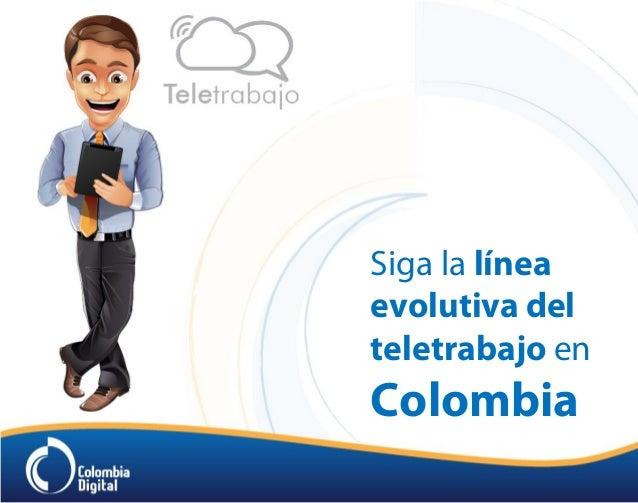 Siga la línea evolutiva del teletrabajo en Colombia