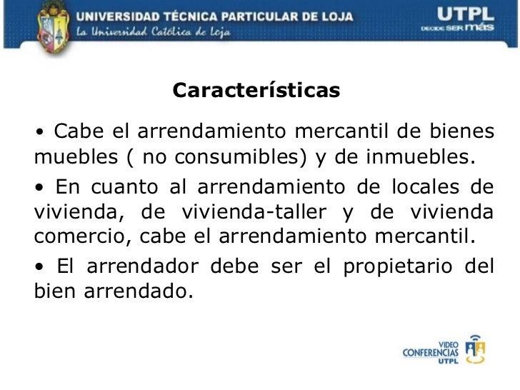 Legislaci n mercantil monetaria y bancaria ii bimestre for Arrendamiento bienes muebles