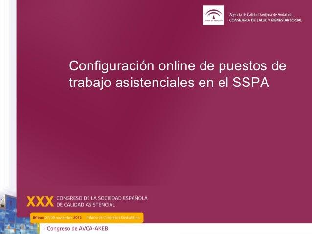 Configuración online de puestos detrabajo asistenciales en el SSPA