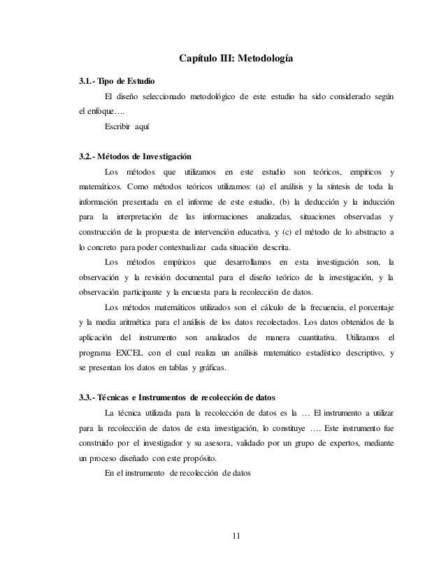 Plantilla proyecto de tesis mgefyd lavega i