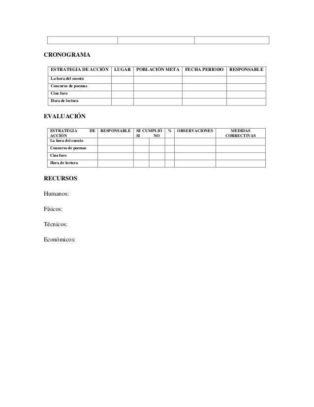 Plantilla proyecto institucional de lectura y escritura (PILE)