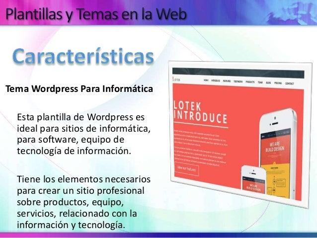 Diseños en Wordpress Para Informática y Tecnologías de Información