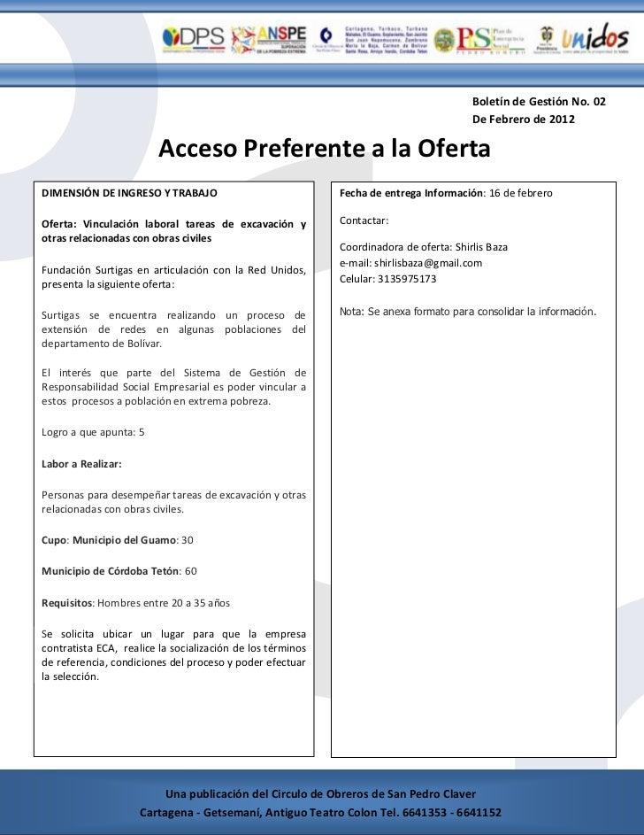 Boletín de Gestión No. 02                                                                                             De F...