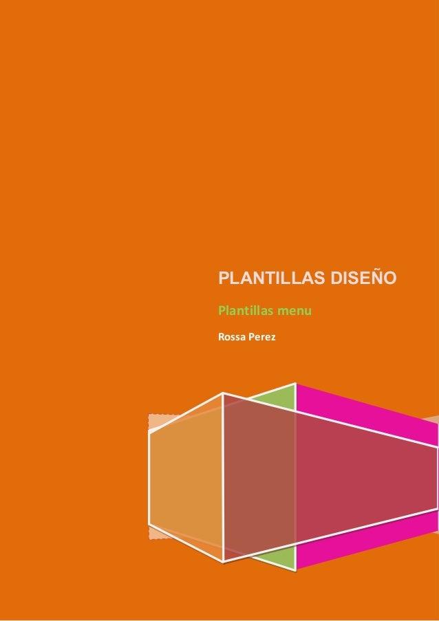 PLANTILLAS DISEÑO Plantillas menu Rossa Perez