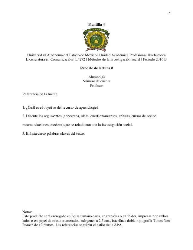 Plantillas- Métodos de la investigación social [2016 B]
