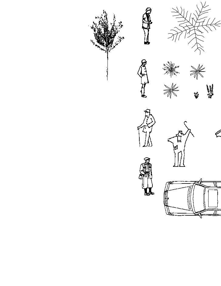 Plantillas personas muebles autos arboles 1 50