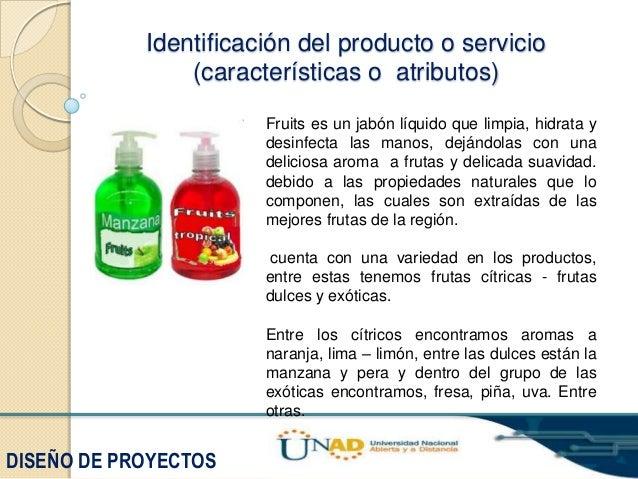 Estudio de viabilidad y factibilidad para la elaboracion y - Descripcion del producto ...