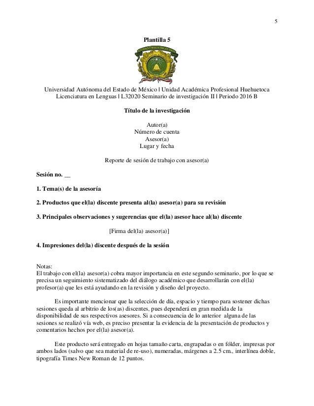 Plantillas- Seminario de investigación II [2016 B]