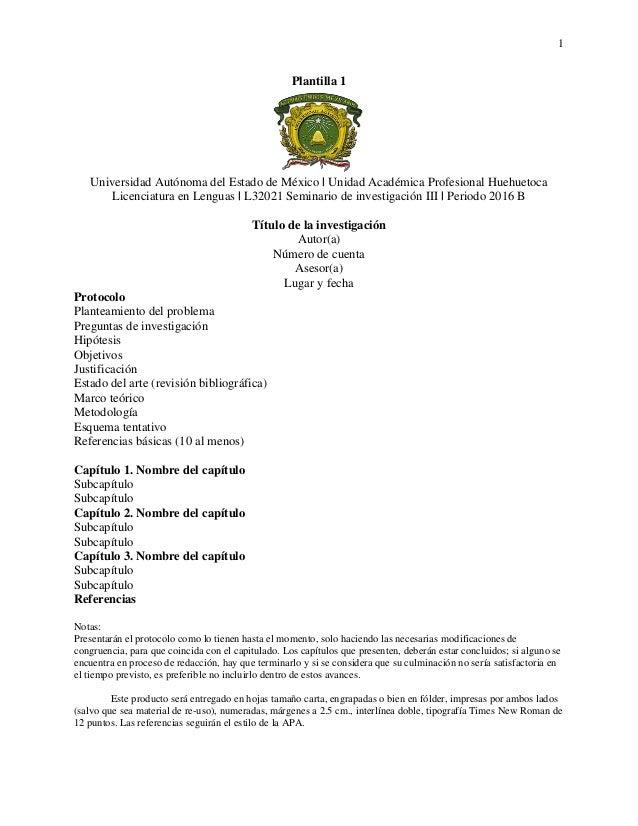 Plantillas- Seminario de investigación III [2016 B]