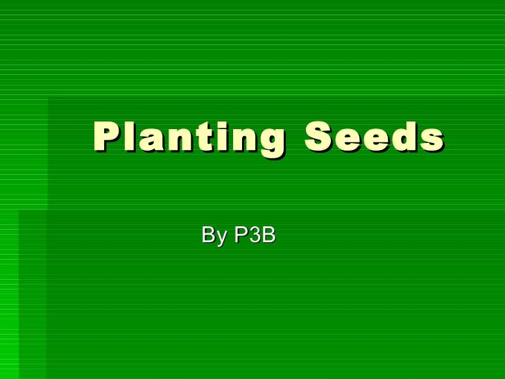 Planting Seeds By P3B