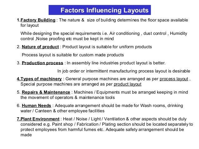 Plant Layout Tools & Techniques 1. Process Chart i. Operations process chart ii. Flow process chart 2. Process Flow Diagra...