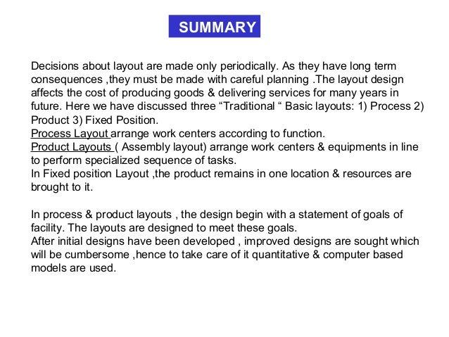 Lecture on Production management- Plant layout