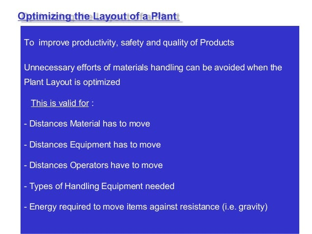 Provide space for machine / materials / storage / etc •Flexible for future changes in capacity / Design / Process etc ( Ce...