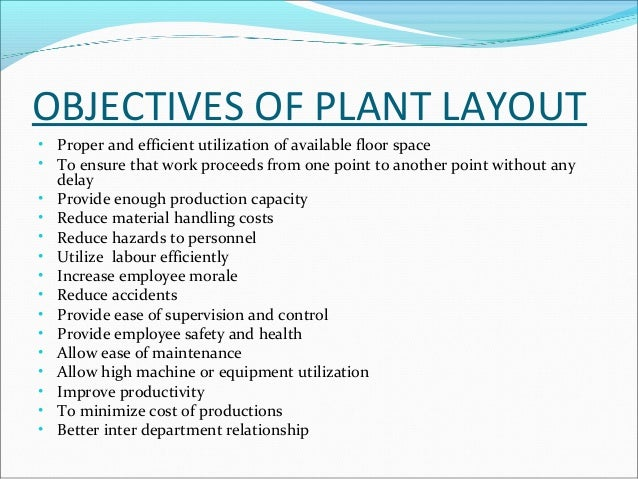 objectives of plant maintenance