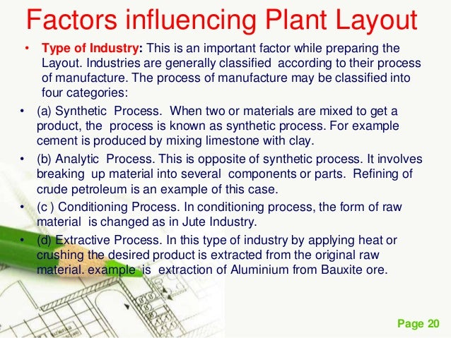 factors influencing plant layout Factors, influencing plant location/ facility location factors influencing plant location general factors for all types of organisations uncontrollable factors.