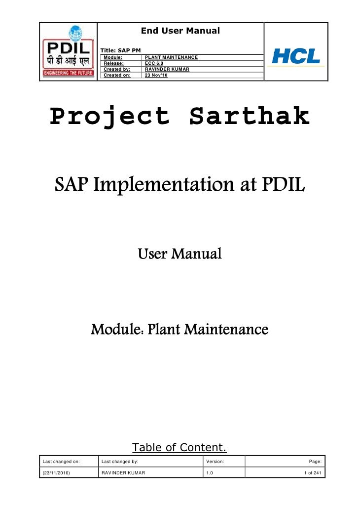 Plant Maintenance With Sap Practical Guide Pdf