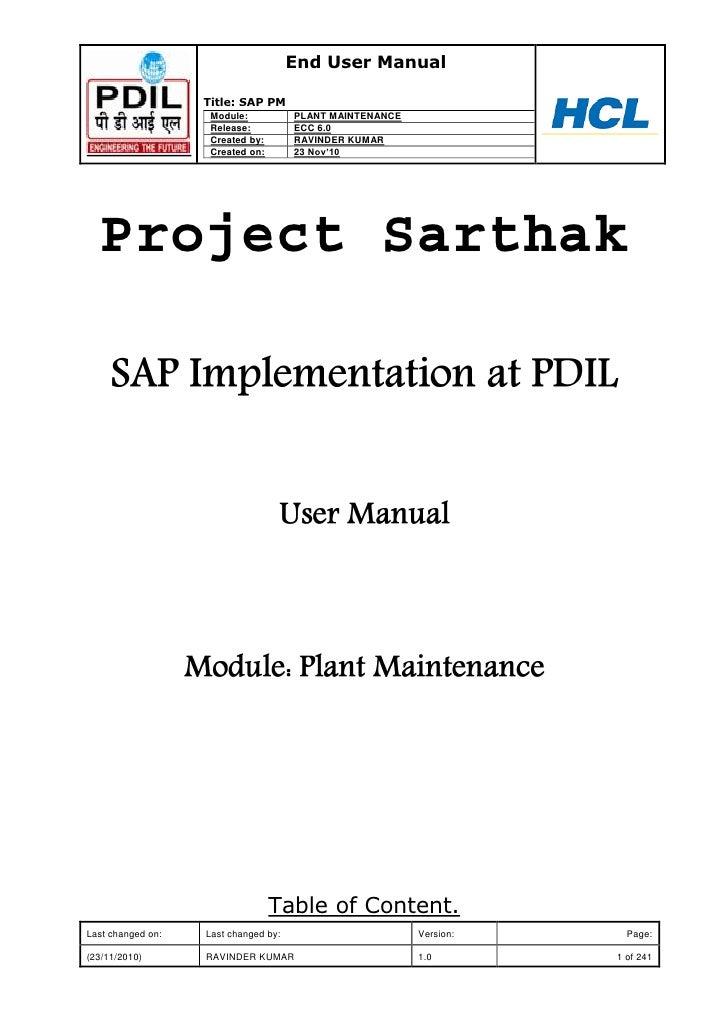 Plant Maintenance With Sap Practical Guide Pdf