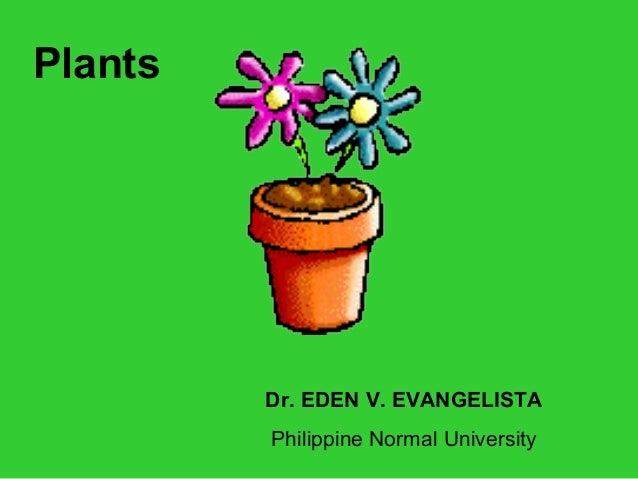 Dr. EDEN V. EVANGELISTA Philippine Normal University Plants