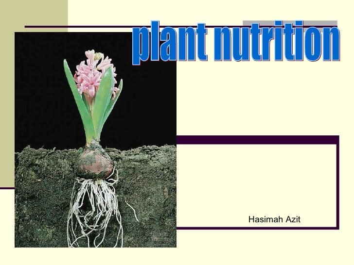 plant nutrition  Hasimah Azit