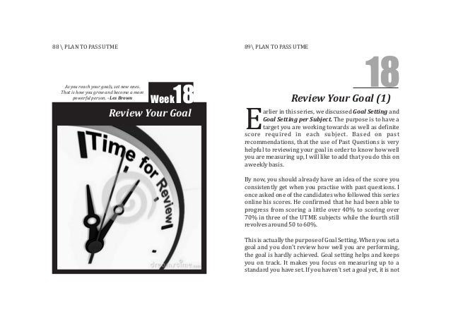 arlier in this series, we discussed Goal Setting and Goal Setting per Subject. The purpose is to have a target you are wor...