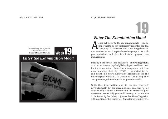 Week19 Enter the Examination Mood s we get closer to the examination date, it is also important to be psychologically read...