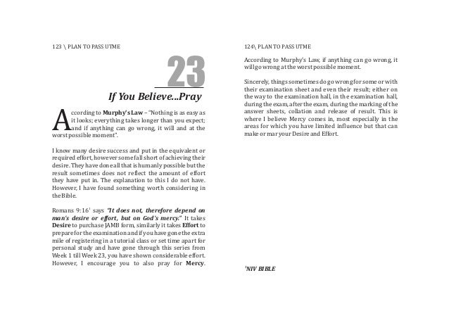 """23If You Believe...Pray ccording to Murphy's Law – """"Nothing is as easy as it looks; everything takes longer than you expec..."""