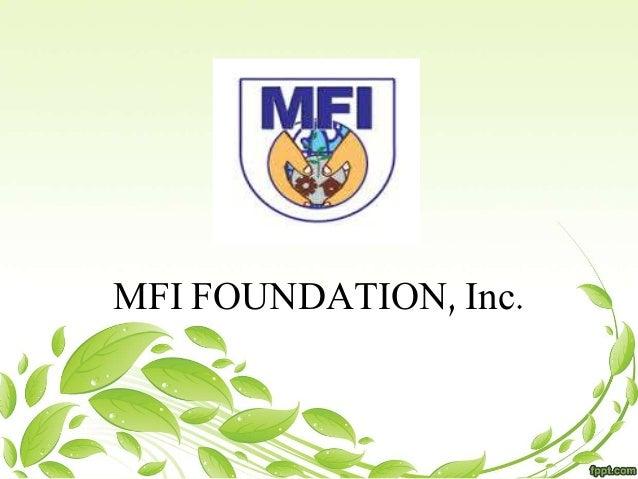 MFI FOUNDATION, Inc.
