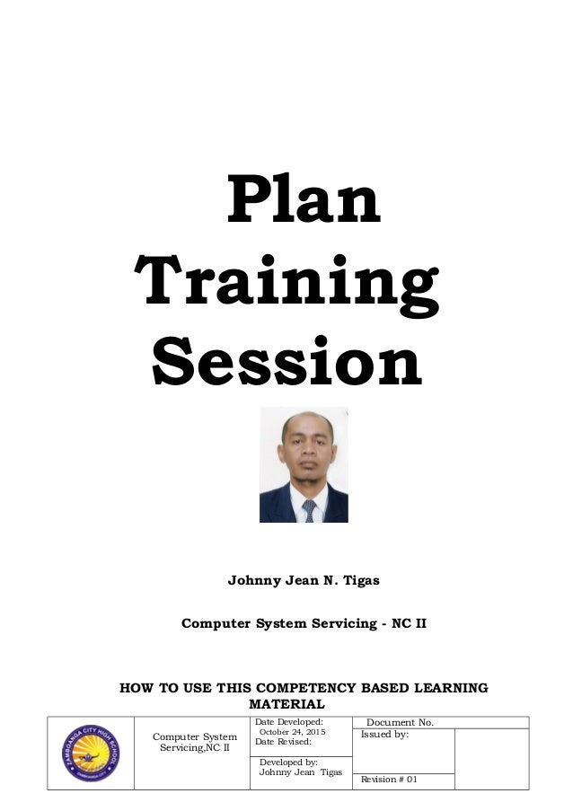 Plan training session