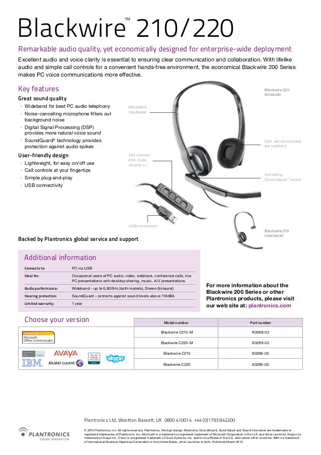 PLANTRONICS BLACKWIRE C220-M WINDOWS 7 DRIVERS DOWNLOAD (2019)
