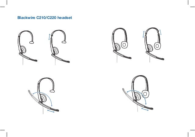 Plantronics black wire c210 c220 user guide