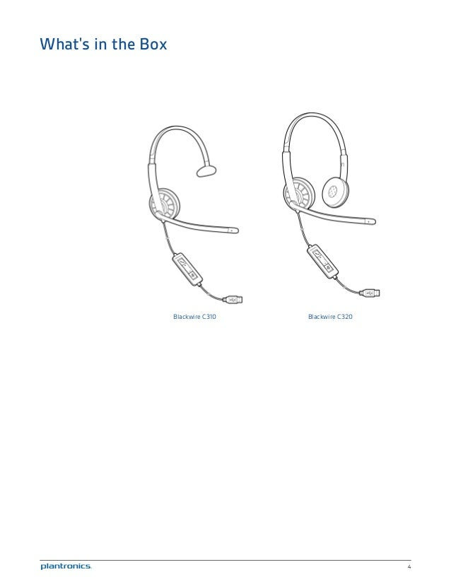 Plantronics black wire c310 c320 user guide