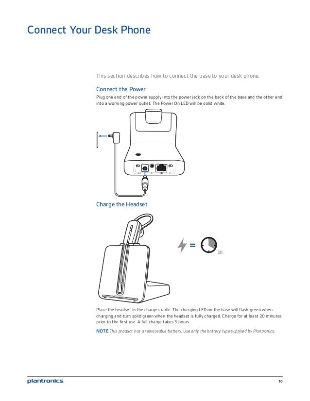 Plantronics cs540 user guide on