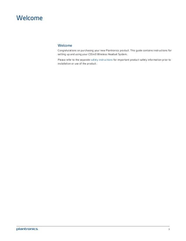 Plantronics Cs540 User Guide