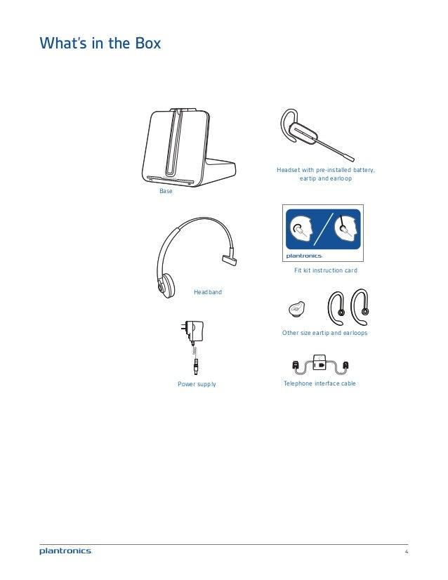 plantronics cs540 user guide rh slideshare net plantronics cs540 troubleshooting plantronics cs540 - headset manual
