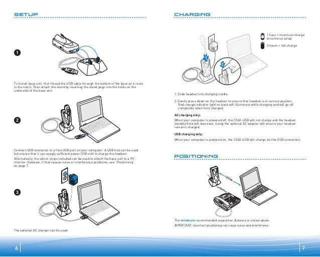 Plantronics cs60 usb user guide