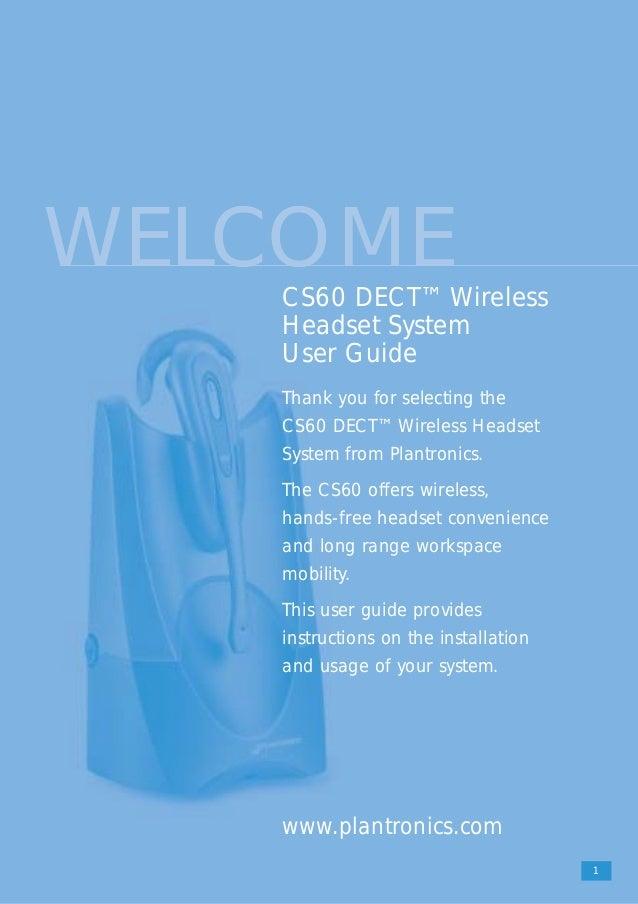 plantronics cs60 user guide rh slideshare net plantronics cs60 wireless headset pairing plantronics cs60 wireless headset manual