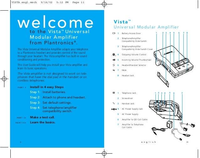 plantronics vista m12 user guide rh slideshare net Plantronics Savi Wireless Headset Plantronics Headset Manual