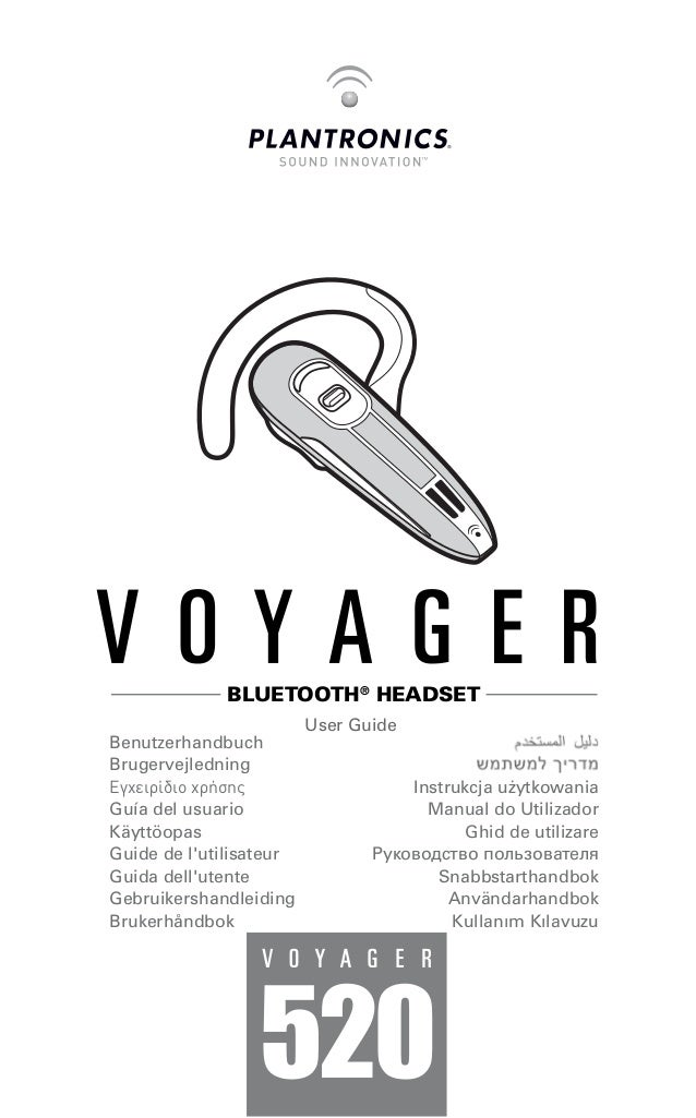 plantronics voyager 520 user guide rh slideshare net Plantronics Wireless Headset plantronics voyager 520 user guide