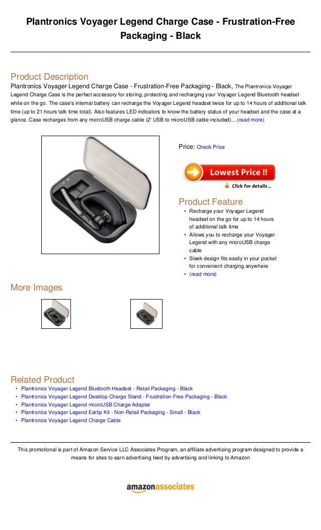Plantronics Voyager Legend Charge Case Frustration Free Packaging