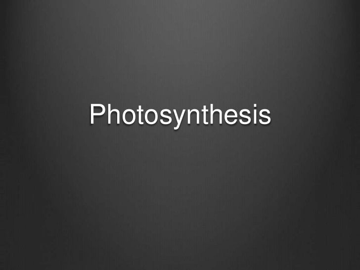 Photosynthesis<br />