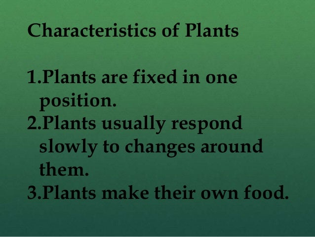 Fixed plants names
