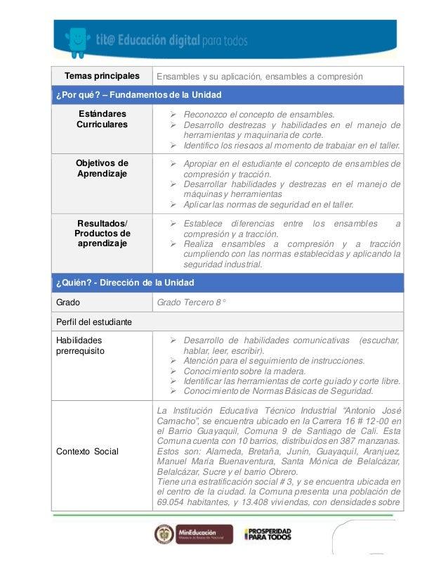 Plan unidad didactica Slide 2
