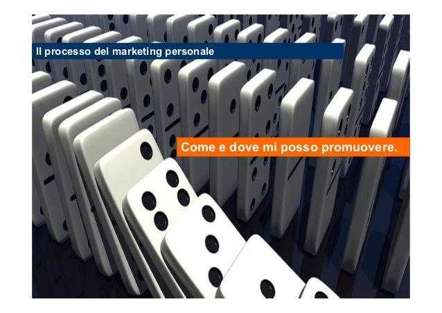 Il processo del marketing personale  Come e dove mi posso promuovere.  Stefano Principato