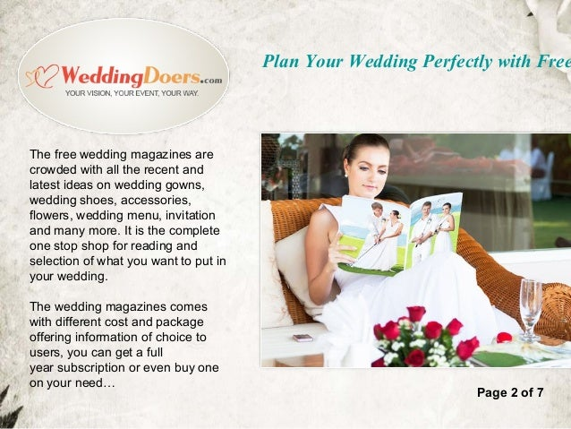free wedding magazines free by mail