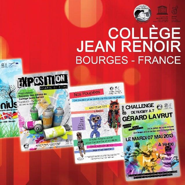 BOURGES - FRANCE LE COLLÈGE JEAN RENOIR