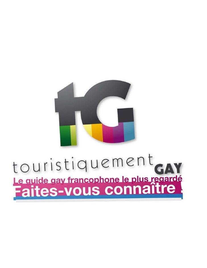 Plaquette media de Touristiquement Gay