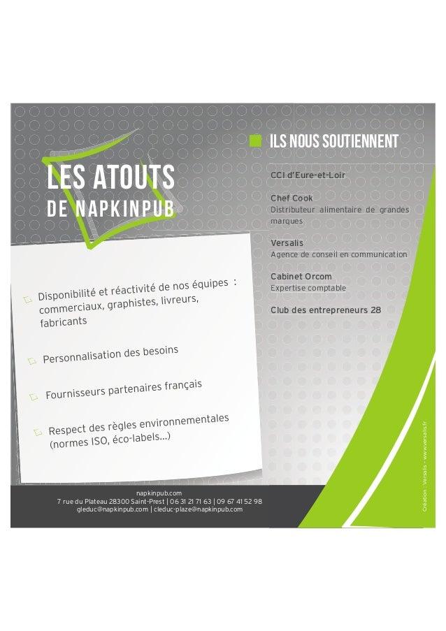 ils nous soutiennent  Les atouts d e N apki npub  CCI d'Eure-et-Loir CCI d'Eure-et-Loir d'Eu t-Loir Ch Chef Cook Distribu ...