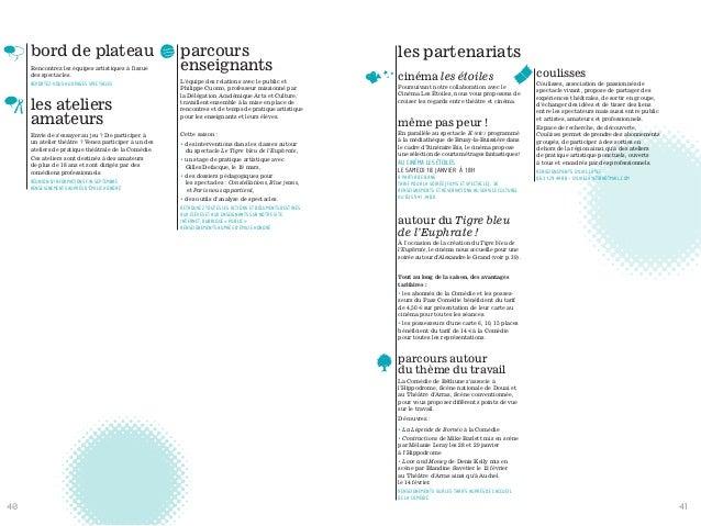 bord de plateau Rencontrez les équipes artistiques à l'issue des spectacles. REPORTEZ-VOUS AUX PAGES SPECTACLES les atelie...