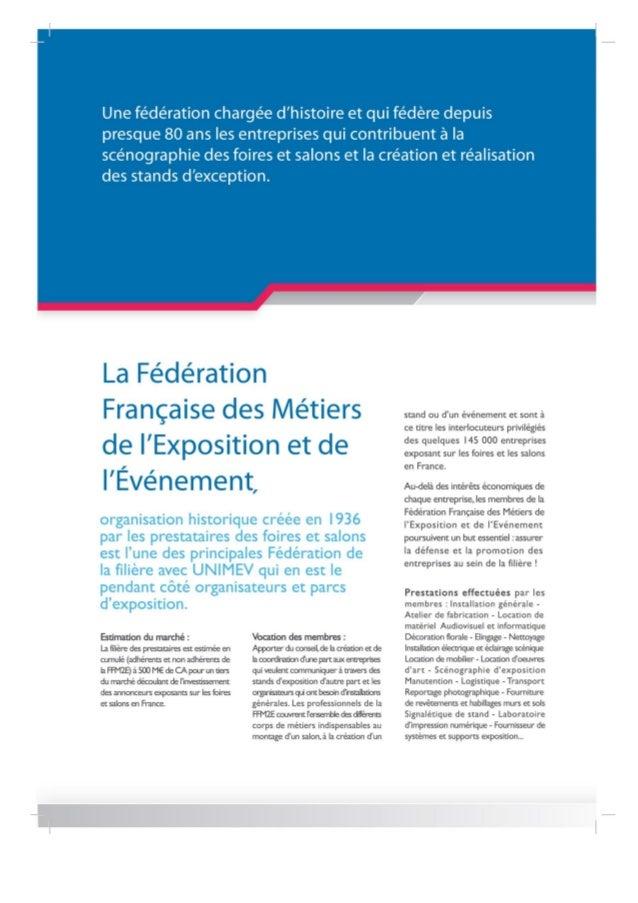 Rejoignez la fédération des métiers de l'exposition et de l'événement Slide 2