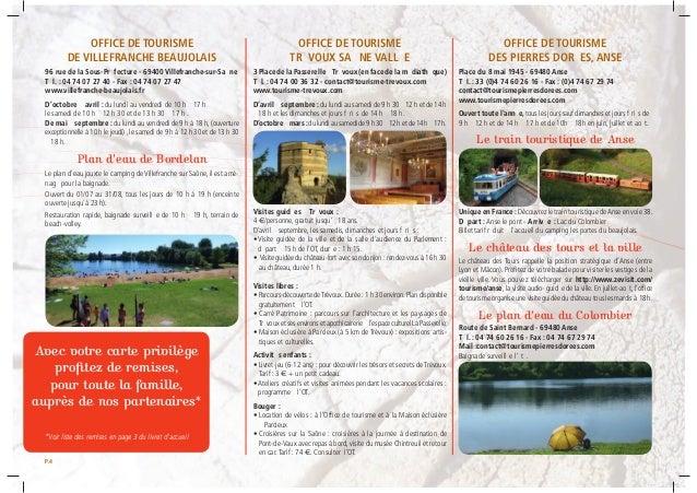Plaquette escapade camping parc beaujolais - Office du tourisme villefranche sur saone ...